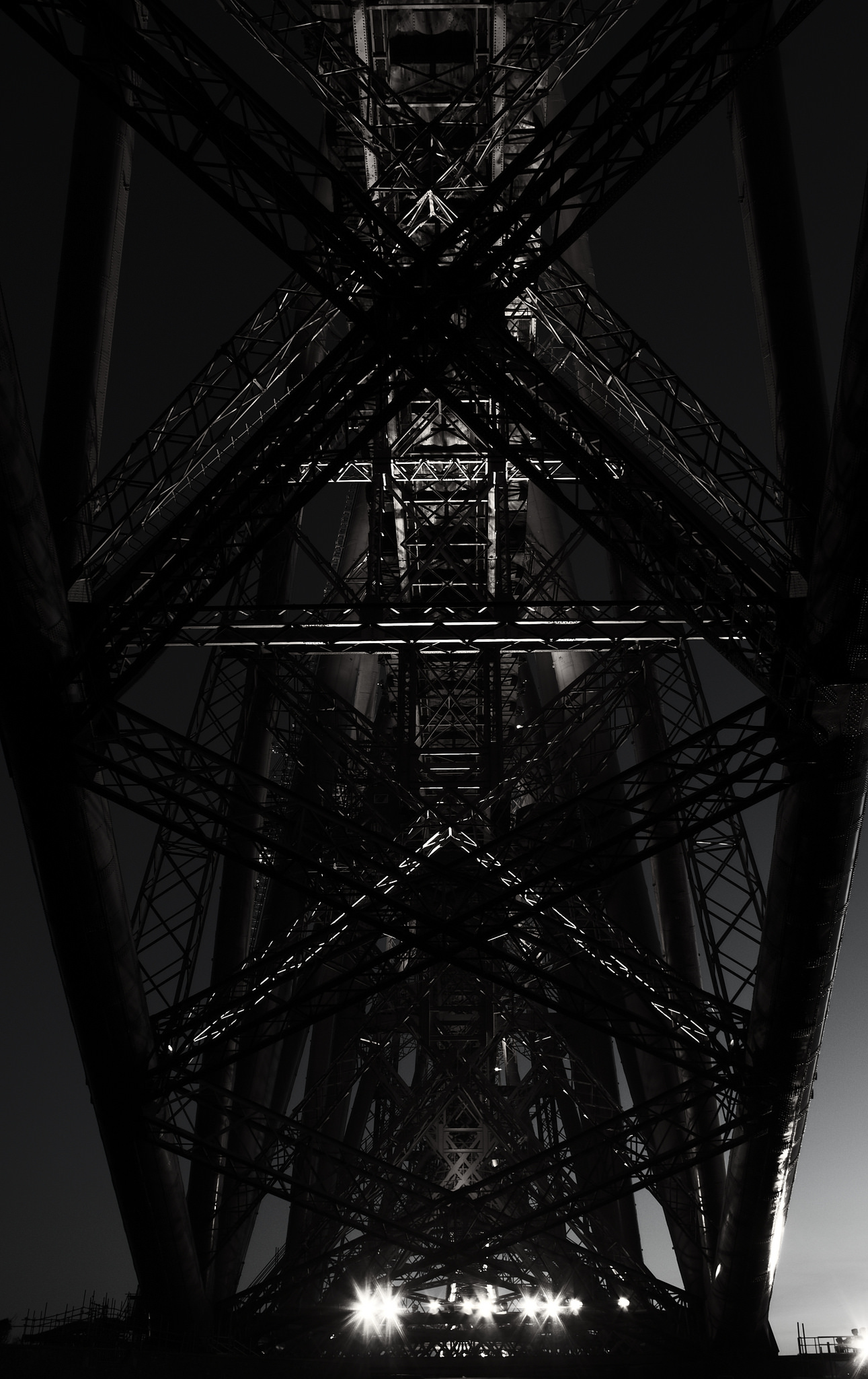 Underside of the Forth Rail Bridge