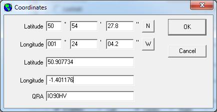 Setting the Co-Ordinates