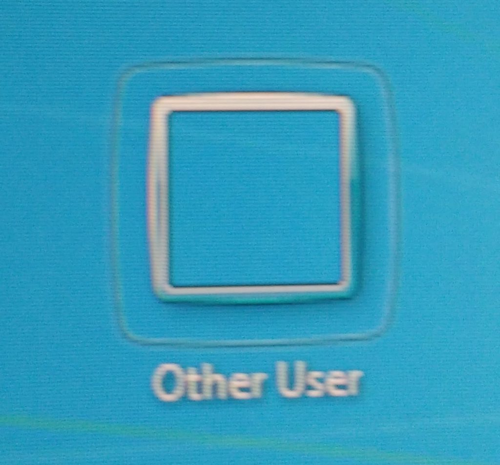 "The pointless ""other user"" button on Windows 7."